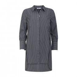 Coster Copenhagen CC Heart Long Shirt w. Stripes Black