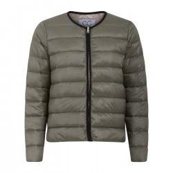 Coster Copenhagen CC Heart Quilted Jacket Pale Hunter Green