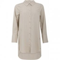 Coster Copenhagen Oversized Shirt Dress Camel Stripe