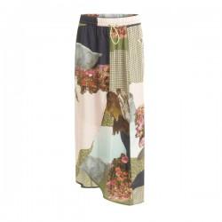 Coster Copenhagen Skirt In Cupro W. Mountain Collage Print