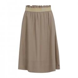 Coster Copenhagen Skirt With Elastic Tape At Waist Dark Sand