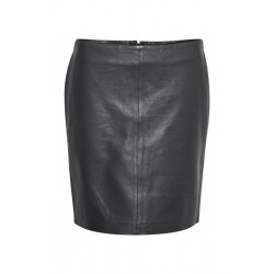 Denim Hunter 19 The Leather Skirt Black