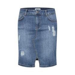 Denim Hunter Celina Torn Skirt Vintage Wash