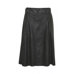 Denim Hunter Enzo Leather Skirt Black