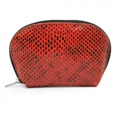 Depeche Small Purse Snake Look Red