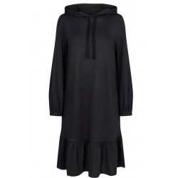 Freequent Elcos Dress Hoodie Black Solid
