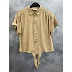 Freequent Mella Shirt Tie Beige Sand Mix
