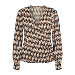Freequent Must Blouse Beige Sand Mix W. Black