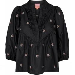 Gossia Morgan Blouse Black W. Flowers