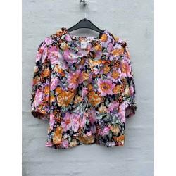 Ichi Filippa Shirt Black Flower Mix
