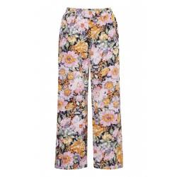 Ichi Filippa Pants Black Flower Mix