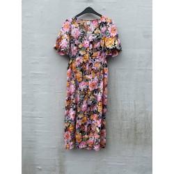 Ichi Flippa Dress Black Flower