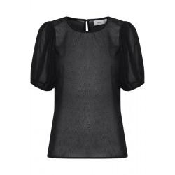 Ichi Florence Short Sleeves Black