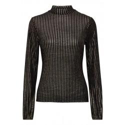 Ichi Jerily Long Sleeves Blouse Black