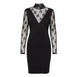 Ichi Kate Lace Dress Black