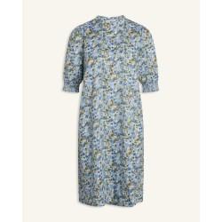 Love & Divine Dress Blue/Khaki Flower