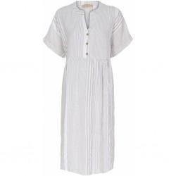 Marta du Cháteau Dress Stripe Beige/White