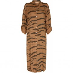 Marta du Cháteau Dress Zebra Cuoio Print