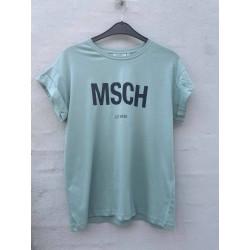 Moss Copenhagen Alva MSCH STD Seasonal Tee Blue S/Sky Cap