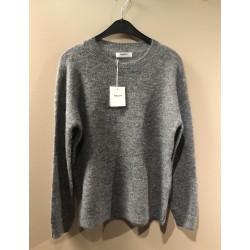 Moss Copenhagen Femme Alpaca O Pullover Medium Grey