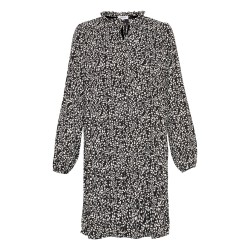 Moss Copenhagen Siella Clover Long Sleeves Dress Black Leaf