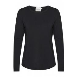 My Essential Wardrobe 18 The Modal Blouse Black