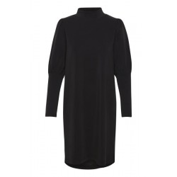 My Essential Wardrobe Elle Puff Dress Black