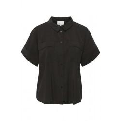 My Essential Wardrobe Iris Short Sleeves Shirt Black