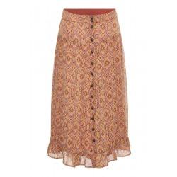 Rue De Femme Violet Skirt Moroccan Red